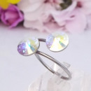 grossiste Anneaux et bagues: anneau en acier  inoxydable avec cristaux Swarovski