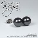 ingrosso Gioielli & Orologi: acciaio inox 8mm  Swarovski orecchini di perle