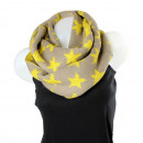 Ladies Loop scarf  scarf good quality 9D0001 Khaki