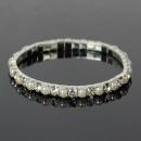 groothandel Sieraden & horloges: Ladies Rhinestone  Armband 42.015 witte parel 1