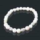 ingrosso Gioielli & Orologi: Braccialetto della  perla gioielli (bianco) 80034