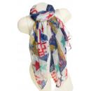 Großhandel Fashion & Accessoires: Damen Loop schal  Tuch gute Qualität 9D0073 Blau