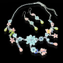 2-piece Colorful  fashion jewelry set with flowers