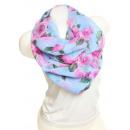 Großhandel Fashion & Accessoires: Damen Loop schal  Tuch gute Qualität 9D0097 Blau
