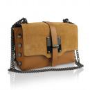 Großhandel Taschen & Reiseartikel: Damen Clutch Leder  Tasche Made in Italy kamille