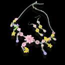 ingrosso Gioielli & Orologi: 2 pezzi monili  variopinto con i fiori 80023