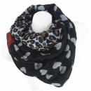 wholesale Scarves & Shawls: Tube scarf / snood 9D0227 Black