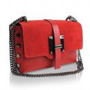 Großhandel Taschen & Reiseartikel: Damen Clutch echt  Leder Tasche Made in Italy rot