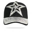 wholesale Headgear: Star Pattern Hat  Rhinestone Muetze 30203