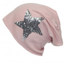 wholesale Headgear: Unisex Long beanie  with silver sequins Star