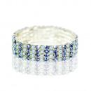 Großhandel Schmuck & Uhren: Damen Strass  Armband Armreif 42026  Blau Perle 4