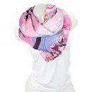 wholesale Fashion & Mode: Ladies Loop scarf  good quality cloth 150745 Rosa