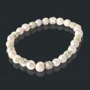 Moda gioielli di  perle braccialetto (Rosa chiaro)