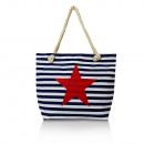ingrosso Borse & Viaggi: borsa a tracolla  signore con stelle blu 23045