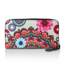 Großhandel Taschen & Reiseartikel: Geldbörse mit  Blumen Muster, Portemonnaie