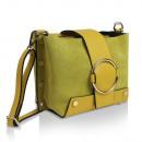 Großhandel Taschen & Reiseartikel: Damen Clutch echt  Leder Tasche Made in Italy Gelb