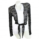 wholesale Pullover & Sweatshirts: Lace bolero jacket  Boleros Send B_4 black