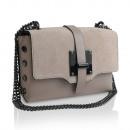 Großhandel Taschen & Reiseartikel: Damen Clutch Leder  Tasche Made in Italy hell rosa