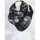 wholesale Scarves & Shawls: Ladies Loop scarf  scarf good quality Black 150559