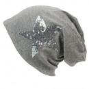 Großhandel Kopfbedeckung: Unisex Long  Beanie mit  silbernem ...