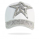 Star Pattern Hat  Rhinestone Muetze 30204