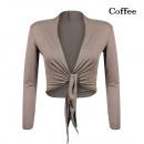 Großhandel Pullover & Sweatshirts: Damen elegante  Bolero JäckchenXL Caffee