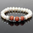 Odzież Biżuteria  Bransoletka Parlen 41021 słodkowo