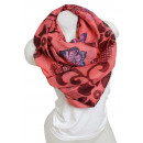 wholesale Fashion & Mode: Ladies Loop scarf  scarf good quality 9D0284 Red