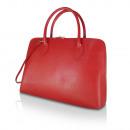 Großhandel Taschen & Reiseartikel: Damen Echtleder  Handtasche made in italy rot