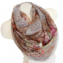 Ladies Loop scarf  scarf good quality DX14-3 Brown