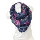 wholesale Fashion & Mode: Snood scarf 9D0139 02_ Blue