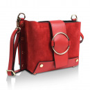 Ladies clutch leren tas made in Italy rood