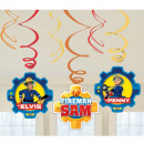 groothandel Windlichten & lantaarns: Feuerwehman Sam - Dekospiralen, 6Stk