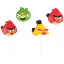 Angry Birds - 4 mini Fig.kerzen