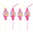 wholesale Party Items: Barbie Pink Shoes - 8 straws
