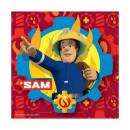 grossiste Maison et cuisine: Pompier Sam - 20 serviettes, 33x33cm