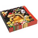 grossiste Maison et cuisine: Super Mario - 20  serviettes, 2LG, 33x33cm.