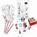 wholesale Parlor Games: Minnie Cafe -  Activity Set (4 pencils, 4 Sticke