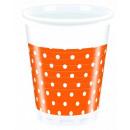 Orange Dots - plastic beker 200ml (8)