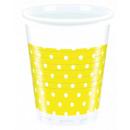 Yellow Dots - plastic beker 200ml (8)