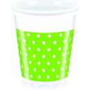 Groene Punten - plastic beker 200ml (8)