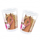 Horse - plastic bekers 200ml (10 stuks)