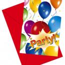 grossiste Cartes de vœux: Ballons Fiesta -  cartes  d'invitation ...