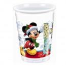 Mickey Kerstmis Ho Ho Ho! - Plastic bekers 200m