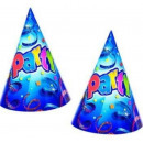 wholesale Gifts & Stationery: Streamer motive - Party hats prismatic