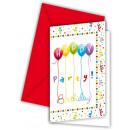grossiste Cartes de vœux: Happy Birthday -  Serpentins cartes d'invitatio