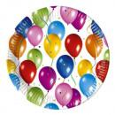 Ballons Fiesta -  Papier Assiettes Grandes 23cm (10