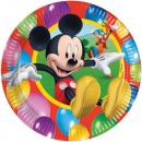 grossiste Cadeaux et papeterie: Mickey Partytime -  assiettes en papier moyenne 20c