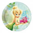 wholesale Gifts & Stationery: Tinkerbell Flowers  Prismatic - paper plates large