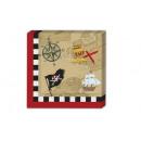 groothandel Huishoudwaren: Pirate's  Treasure Map -  papieren servetten ...